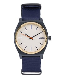 Nixon Blue Time Teller Watch With Whitegold Face
