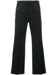 N 21 No21 Contrast Stitch Trousers Black