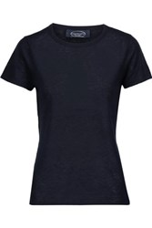 Magaschoni Cashmere T Shirt Midnight Blue