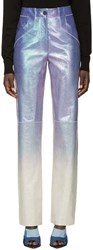 Loewe Purple Iridescent Leather Trousers