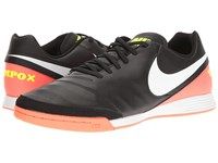 Nike Tiempo Genio Ii Leather Ic Black White Hyper Orange Volt Men's Soccer Shoes