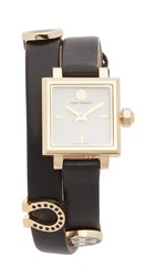 Tory Burch Saucy Watch Ivory Gold Black