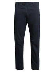 Barena Slim Fit Cotton Blend Chino Trousers Navy
