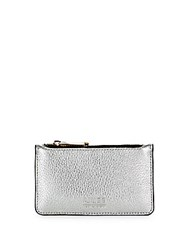 Aimee Kestenberg Melbourne Metallic Leather Card Case Silver Pebble