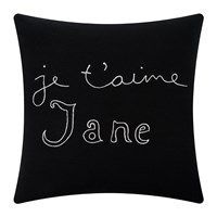 Bella Freud Je T'aime Jane Cushion Black