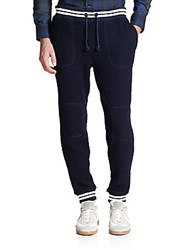 Band Of Outsiders Quilted Patch Sweatpants Classic Navy