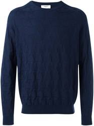 Ports 1961 Star Crew Neck Jumper Blue