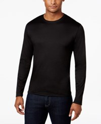 Alfani Men's Soft Touch Stretch Long Sleeve T Shirt Only At Macy's Deep Black