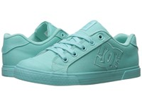 Dc Chelsea Tx W Aqua Women's Lace Up Casual Shoes Blue