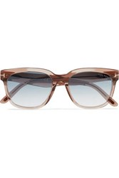 Tom Ford Rhett D Frame Acetate Sunglasses Light Brown