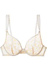 Myla Mayflower Road Satin Trimmed Embroidered Lace Underwired Bra White