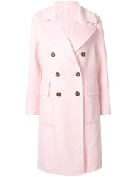 Ck Calvin Klein Double Breasted Coat Pink