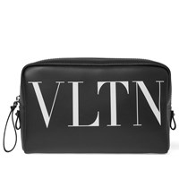 Valentino Leather Wash Bag Black