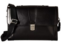 Bosca Flap Envelope Brief Black Briefcase Bags