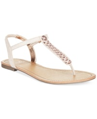 Material Girl Sage T Strap Flat Thong Sandals Only At Macy's Women's Shoes Blush