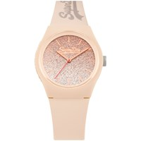 Superdry Women's Urban Ombre Glitter Silicone Strap Watch Natural Syl179c