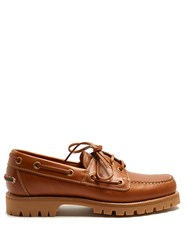 Gucci Pacific Leather Deck Shoes Tan Multi