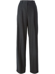 Theory High Waist Gaucho Trousers Grey