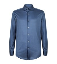 Pal Zileri Slim Jersey Shirt Male Blue