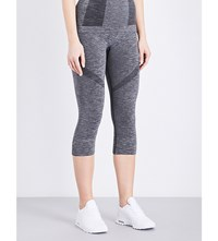 French Connection Motocross Stretch Knit Leggings Dark Grey Mel
