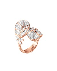 John Hardy Classic Chain Feather Rose Gold Ring