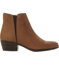 Steve Madden Line Low Suede Ankle Boots Tan Nubuck