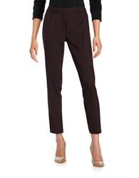 Dex Textured Dress Pants Plum Black