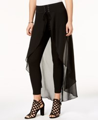 Material Girl Juniors' Solid Corset Overlay Pants Created For Macy's Caviar