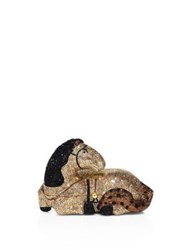 Judith Leiber Crystal Horse Minaudiere Champagne