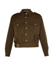 Saint Laurent Patch Pocket Aviator Jacket
