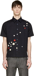 Raf Simons Midnight Navy Floral Shirt