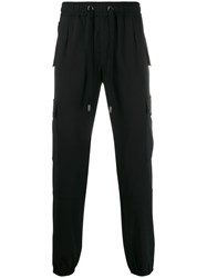 Dolce And Gabbana Cargo Pocket Track Pants Black