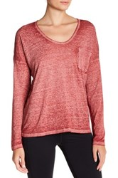 Threads For Thought Clementine Long Sleeve Burnout Tee Red
