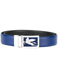 Etro Logo Buckle Belt Blue