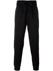 Rag And Bone Drawstring Tapered Track Trousers Black
