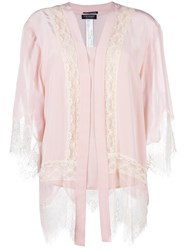 Twin Set Lace Panel Cardigan Pink Purple