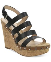 French Connection Deon Platform Wedge Sandals Women's Shoes Black