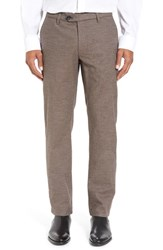 Ted Baker Men's London 'Freshman' Slim Fit Flat Front Front Pants Natural