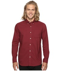 Volcom Oxford Stretch Long Sleeve Woven Merlot Men's Clothing Red
