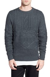 Men's Bellfield Mixed Cable Knit Sweater
