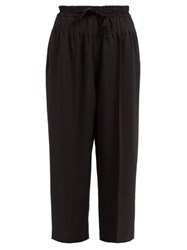 Haider Ackermann Chesterman Cropped Wool Trousers Black