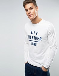 Tommy Hilfiger Pando Long Sleeve Top 1985 Logo Snow White