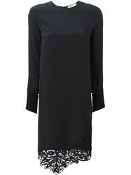 Ports 1961 Lace Trimmed Shift Dress Black