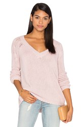 360 Sweater Brogan Cashmere Scoop Neck Pink