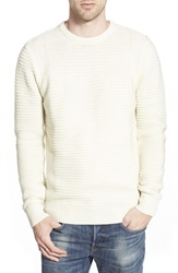 Bellfield Ribbed Crewneck Sweater Ecru