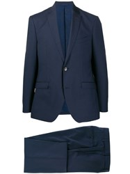 Etro Single Breasted Two Piece Suit Blue