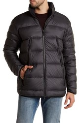 New Balance Quilted Puffer Hooded Jacket Black