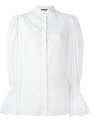 Alexander Mcqueen Exaggerated Sleeve Blouse White