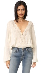 Free People Desert Sands Blouse Ivory
