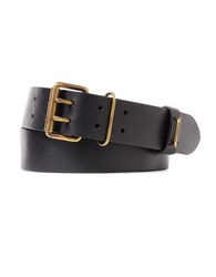 Polo Ralph Lauren Military Burnished Leather Belt Black